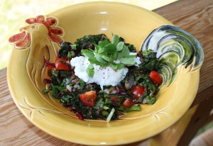 SWISS CHARD BOILED EGG
