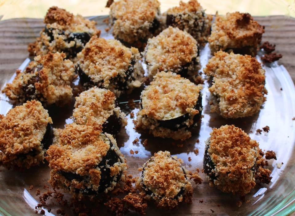 Eggplant with Gluten Free Breading