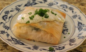 Salmon in Phyllo